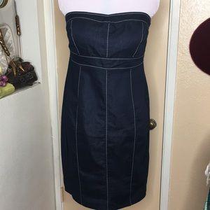 TORRID Blue Strapless Chambray Bombshell Dress